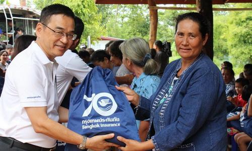 กรุงเทพประกันภัยร่วมแรงร่วมใจช่วยเหลือผู้ประสบภัยน้ำท่วม