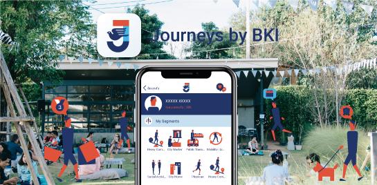 แอปพลิเคชัน Journeys by BKI